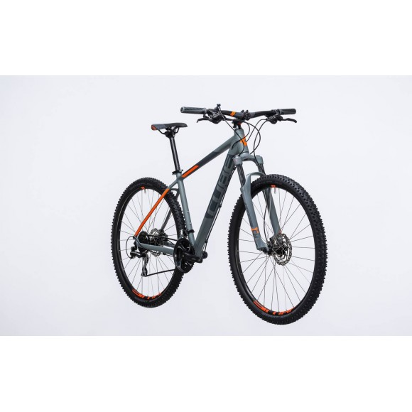 Bicicleta Cube AIM Race Grey Flashorange 2017