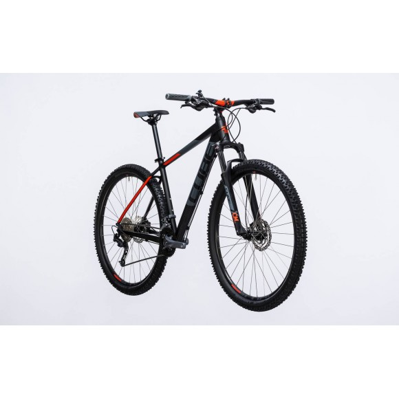 Bicicleta Cube AIM SL Black Flashred 2017