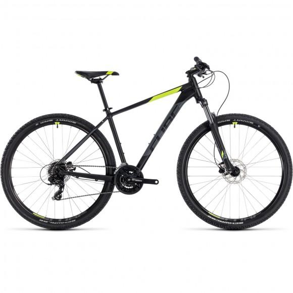 Bicicleta Cube AIM Pro Black Flashyellow 2018