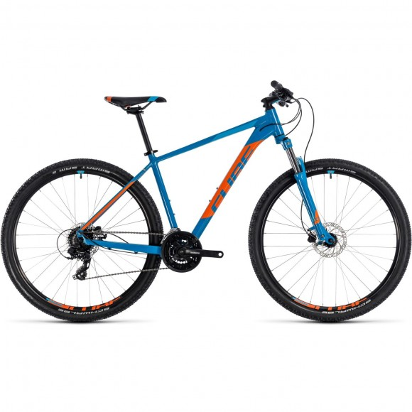 Bicicleta Cube AIM Pro Blue Orange 2018