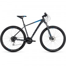 Bicicleta Cube AIM Race Grey Blue 2018