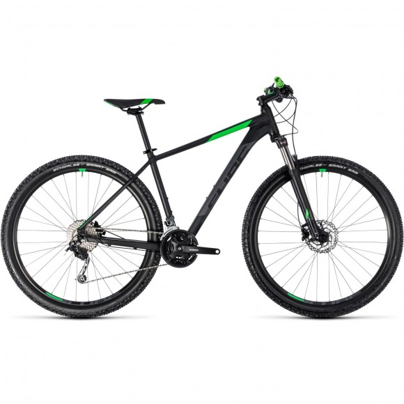 Bicicleta Cube AIM SL Black Flashgreen 2018