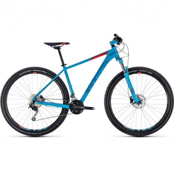 Bicicleta Cube AIM SL Blue Red 2018
