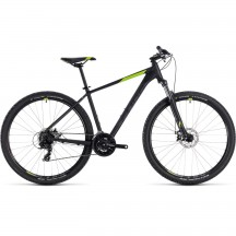 Bicicleta Cube AIM Black Green 2018