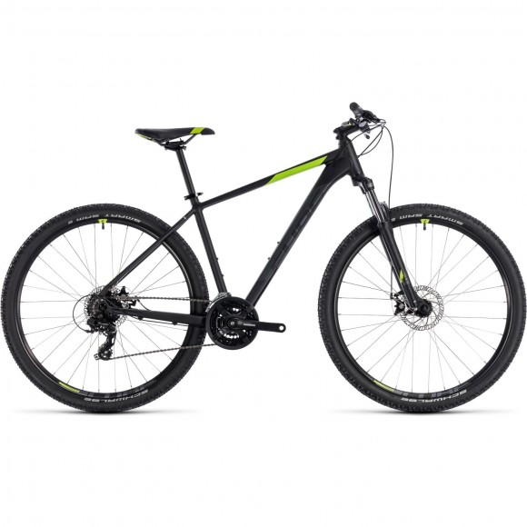 Bicicleta Cube AIM Black Green 2018