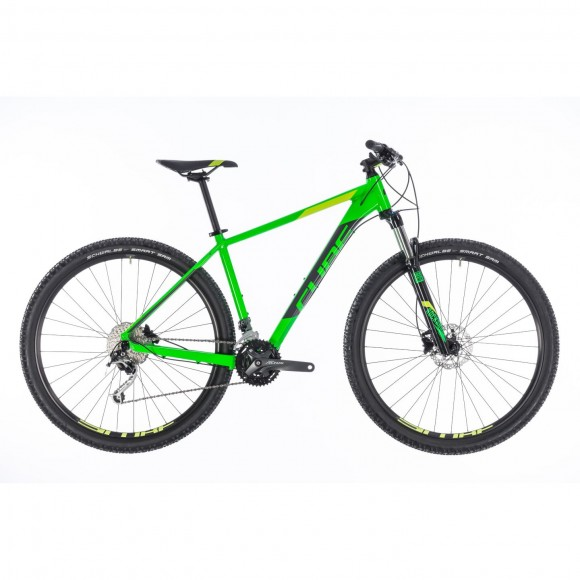 Bicicleta Cube Analog Flashgreen Grey 2018
