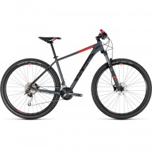 Bicicleta Cube Analog Grey Red  2018