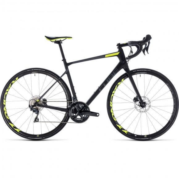 Bicicleta Cube Attain Gtc Slt Disc Carbon Flashyellow 2018