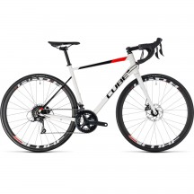 Bicicleta Cube Attain Pro Disc White Red 2018