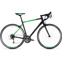Bicicleta Cube Attain Black Flashgreen 2018