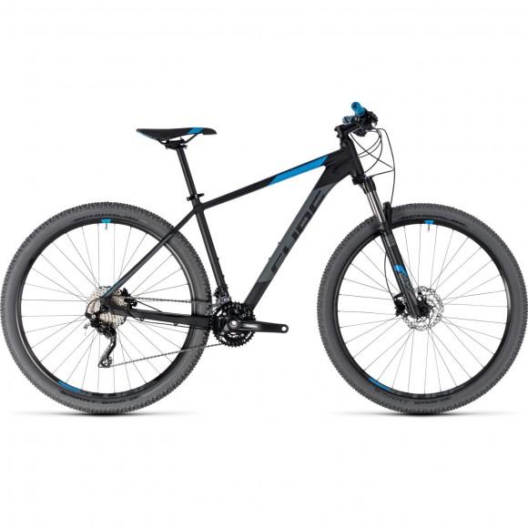 Bicicleta Cube Attention Black Blue 2018