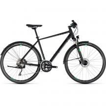 Bicicleta Cube Cross Allroad Black Green 2018