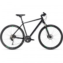 Bicicleta Cube Cross Black Green 2018