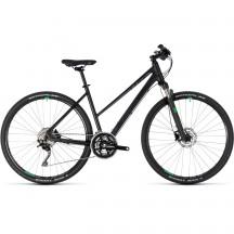 Bicicleta Cube Cross Trapeze Black Green 2018