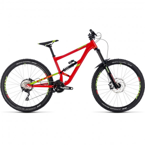 Bicicleta Cube Hanzz 190 RACE 27.5 Red Lime 2018