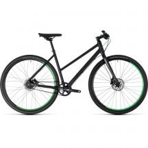 Bicicleta Cube Hyde Race Trapeze Black Green 2018