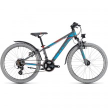 Bicicleta Cube KID 240 ALLROAD Grey Blue 2018