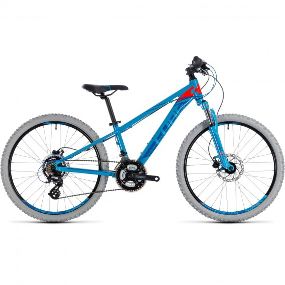 Bicicleta Cube KID 240 Disc Blue Flashred 2018