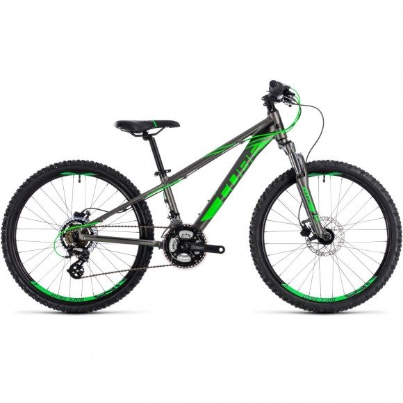 Bicicleta Cube KID 240 Disc Grey Flashgreen 2018