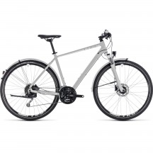 Bicicleta Cube Nature Pro Allroad Bright Grey White 2018