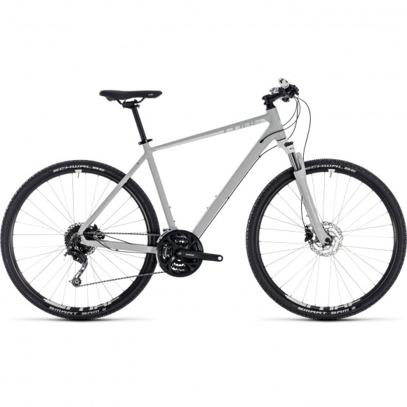 Bicicleta Cube Nature Pro Bright Grey White 2018
