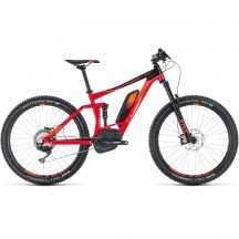 Bicicleta Cube Stereo Hybrid 140 Race 500 27.5 Red Orange 2018