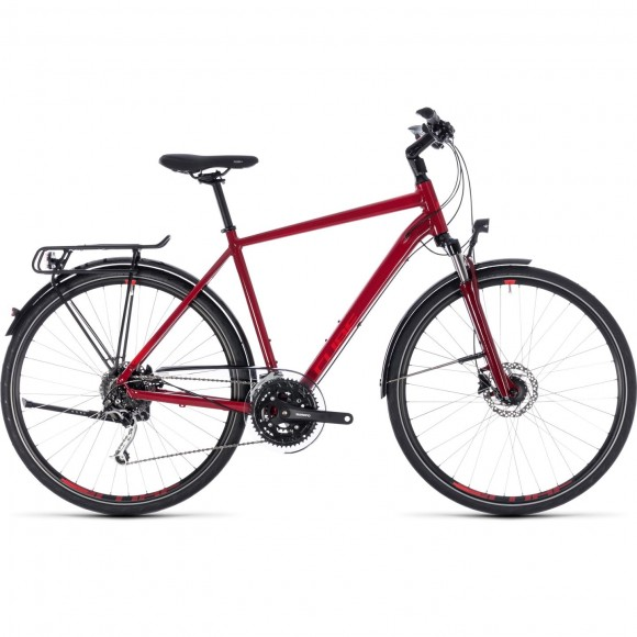 Bicicleta Cube Touring Exc Darkred Red 2018