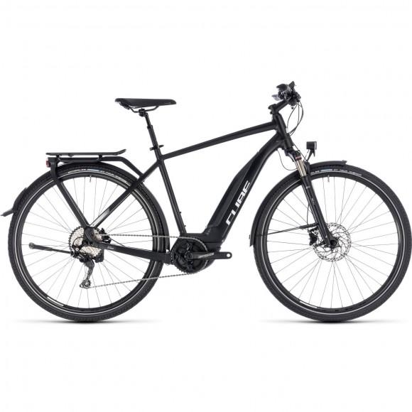 Bicicleta Cube Touring Hybrid Pro 500 Black White 2018
