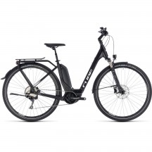 Bicicleta Cube Touring Hybrid Pro 500 Easy Entry Black White 2018