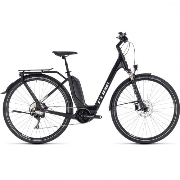 Bicicleta Cube Touring Hybrid Pro 500 Easy Entry Black White 2018