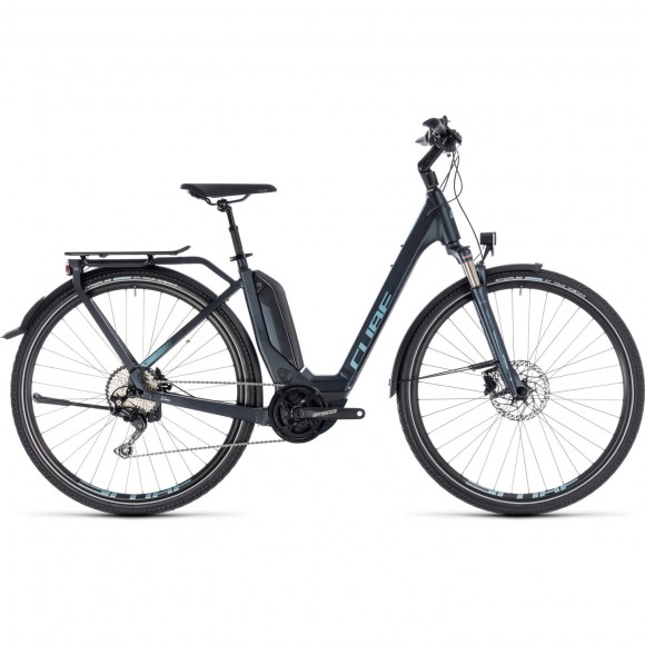 Bicicleta Cube Touring Hybrid Pro 500 Easy Entry Darknavy Blue 2018