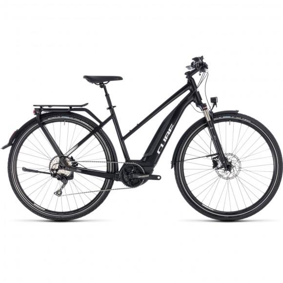 Bicicleta Cube Touring Hybrid Pro 500 Trapeze Black White 2018