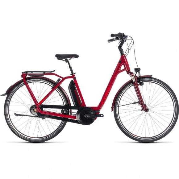 Bicicleta Cube Town Hybrid Pro 500 Easy Entry Red 2018