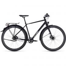 Bicicleta Cube Travel Pro Black White 2018