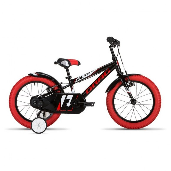 "Bicicleta copii Drag Alpha Black Red 16"""