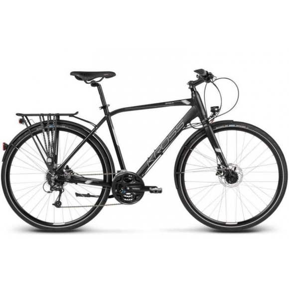 "Bicicleta Kross Trans Africa 28"" Black Silver"