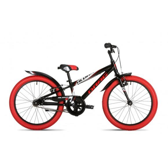 "Bicicleta copii Drag Alpha Black Red White 20"""