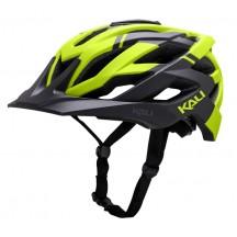 Casca Bicicleta Kali Lunati Matte Black / Lime Green