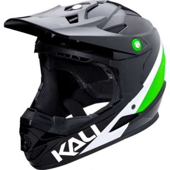 Casca Bicicleta Kali Zoka Pinner Green Black White