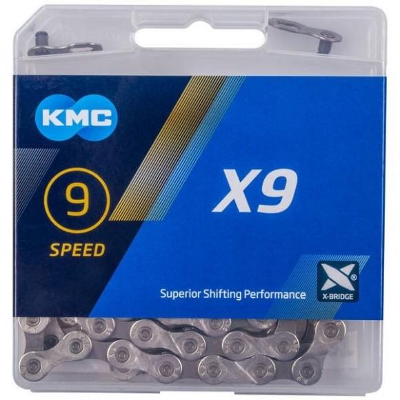 Lant KMC X9 Grey Pentru 9 Viteze