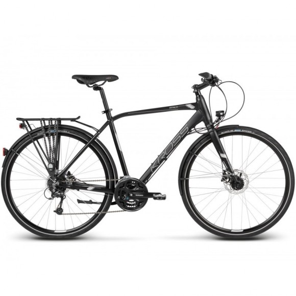Bicicleta Kross Trans Africa 28 black-silver-matte 2017