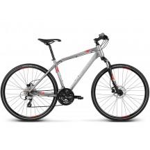 Bicicleta Kross Evado 4.0 Grafit Argintiu Rosu 2017