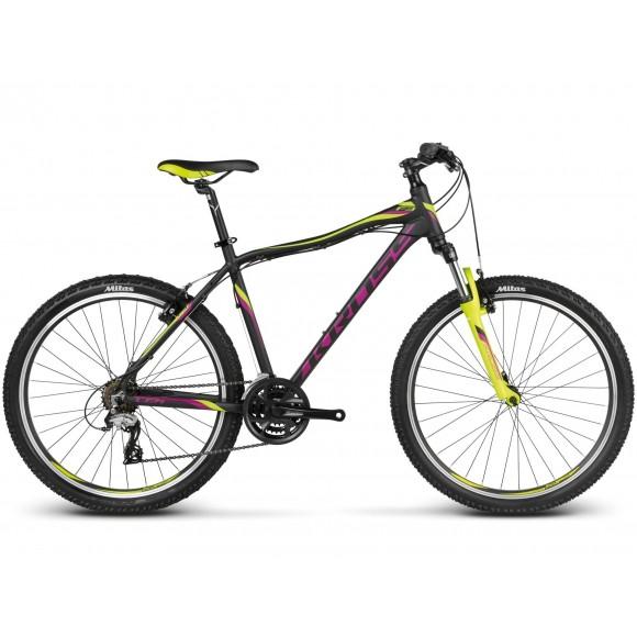 Bicicleta Kross Lea F3 Negru Lime Violet 2017