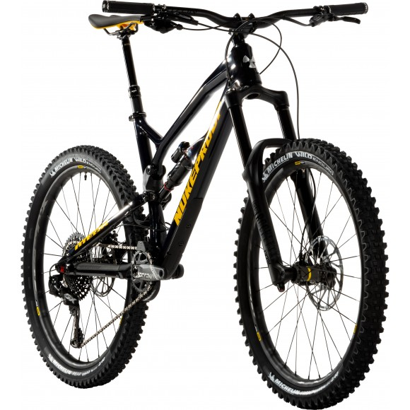 "Bicicleta Nukeproof Mega 27.5"" Pro Carbon Black Yellow 2019"