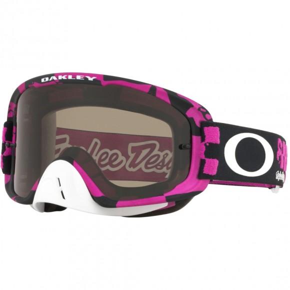 Ochelari Oakley O Frame 2.0 Mx Troy Lee Designs Race Shop Pink Dark Grey & Clear Lens