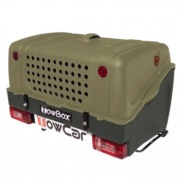 Cutie portbagaj pe carligul de remorcare Towbox V1 DOG Verde