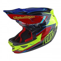 Casca Bicicleta Troy Lee Designs D3 Composite Cadence Yellow Red