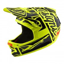 Casca Bicicleta Troy Lee Designs D3 Fiberlite Flo Yellow