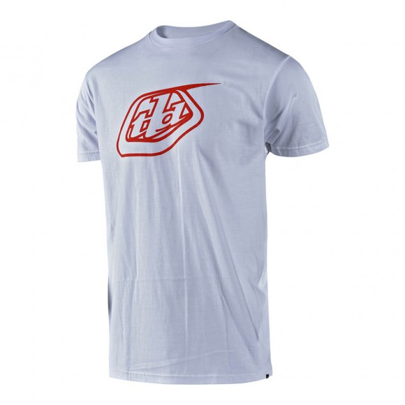 Tricou Troy Lee Designs Logo White Red