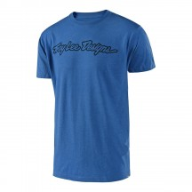 Tricou Troy Lee Designs Signature Electric Blue